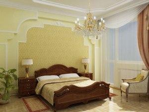 Дизайн стін у спальні